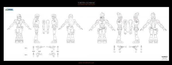 Equipo Actimel ad campaign. Character Design by Torsten Schrank