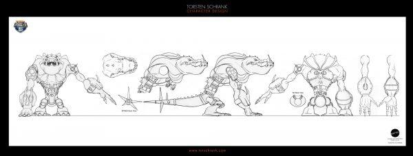 Battle Force 5 TV-Series. Character Design by Torsten Schrank