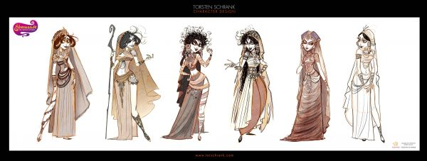 Sherazade TV-Series. Character design by Torsten Schrank