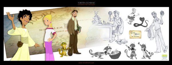 Chi Rho TV-Series. Character Design by Torsten Schrank