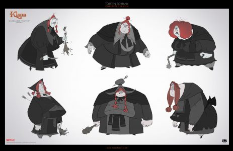 pumkin character design netflix klaus