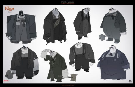 olaf character design netflix klaus