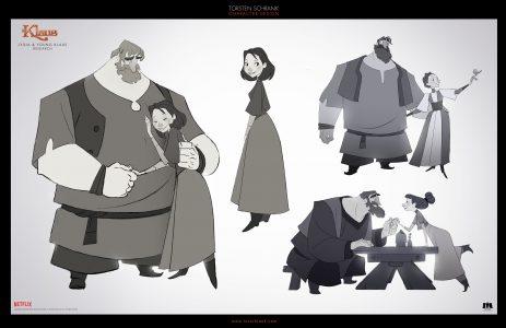 klaus character design netflix